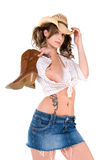 tillfällig cowgirl Arkivfoto