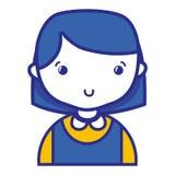 Tillfällig flicka med frisyr- och bluslikformign vektor illustrationer