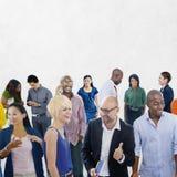 Tillfällig folkkommunikation Team Friendship Concept för gemenskap Royaltyfria Foton