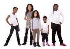 Tillfällig grupp av barn fotografering för bildbyråer