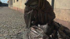 Tillfällig hundkapplöpning för skulptur i Stockholm sweden arkivfilmer