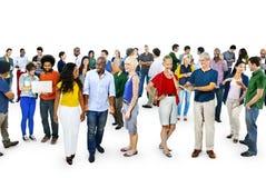 Tillfällig kommunikation Team Friendship Concept för gemenskap royaltyfri bild