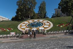 Tillfällig minnesmärke på den Maydan Nezalezhnosti fyrkanten i Kiev, Ukraina Royaltyfri Foto