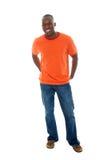 tillfällig skjorta t för man jeans2 Arkivbilder