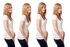 Tillfällig ung kvinna Arkivfoton