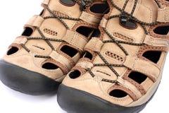 tillfälliga mens parar sandals Arkivfoton