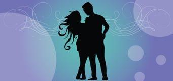 Tillfälliga par på valentindag vektor illustrationer