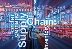 tillförsel för chain begrepp för bakgrund glödande stock illustrationer