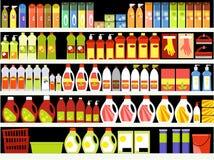 tillförsel för svampar för bakgrundscleaningtorkduk nya orange stock illustrationer