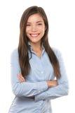 Tillfällig stående för asiatisk affärskvinna Royaltyfri Foto