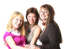 tillfälliga tre kvinnor yong Royaltyfri Fotografi