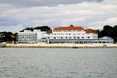 Tillflyktsorthotell, banker, Dorset, UK Fotografering för Bildbyråer