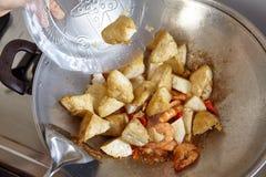 Tillfoga tofuen Fotografering för Bildbyråer