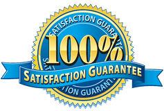 tillfredsställelse för 100 guarantee arkivbilder