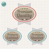 tillfredsställelse för emblemguaranteekvalitet Royaltyfria Bilder