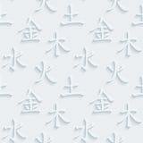 tillgänglig fengshuivektor element fem royaltyfri illustrationer