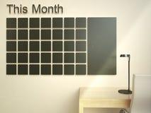tillgänglig kalender mer sidaserievägg Begrepp för organisatör för schemaminneslistaledning royaltyfri fotografi