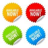 Tillgänglig nu etikett Fotografering för Bildbyråer