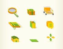 tillgänglig website för symboler för affärseps-mapp Royaltyfria Bilder
