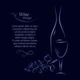 tillgänglig wine för designlistavektor stock illustrationer
