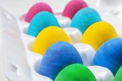 tillgängliga färgrika easter ägg ställde in vektorn Fotografering för Bildbyråer
