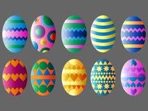 tillgängliga färgrika easter ägg ställde in vektorn royaltyfri illustrationer