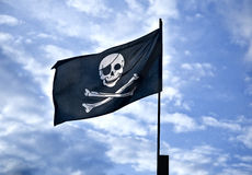 tillgängligt flaggaexponeringsglas piratkopierar stilvektorn Arkivfoto