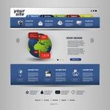 tillgängligt formaterar båda eps8 jpeg-mallwebsite Royaltyfri Fotografi