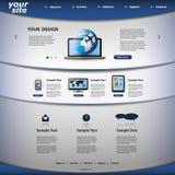 tillgängligt formaterar båda eps8 jpeg-mallwebsite Royaltyfri Foto