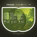 tillgängligt formaterar båda eps8 jpeg-mallwebsite Arkivbilder
