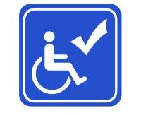 tillgängligt handikappat Royaltyfri Bild