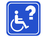 tillgängligt handikappat stock illustrationer