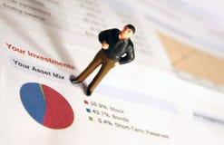tillgångdiagraminvesteringar Royaltyfri Fotografi
