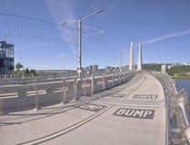 Tillikum korsning bro Portland Oregon Royaltyfria Bilder