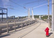 Tillikum korsning bro Portland Oregon Arkivfoto