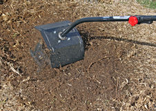 Tilling the ground royalty free stock photos