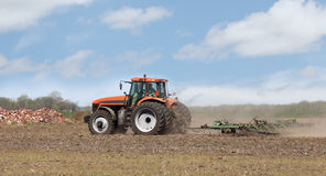 Tilling the Soil Royalty Free Stock Image