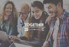 Tillsammans gemenskap Team Support Unity Friends Concept royaltyfri fotografi
