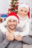 Tillsammans på julafton. Royaltyfria Foton