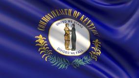 Tillstånd av den Kentucky flaggan flaggatillstånd USA royaltyfri fotografi