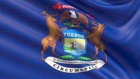 Tillstånd av den Michigan flaggan flaggatillstånd USA vektor illustrationer