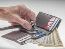 Tillstånd av ekonomin eller hälsovården Arkivfoto