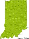 Tillstånd av Indiana Arkivfoto