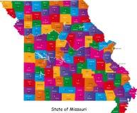 Tillstånd av Missouri Arkivbilder