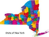 Tillstånd av New York vektor illustrationer