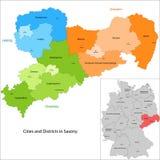 Tillstånd av Tyskland - Sachsen Arkivfoto