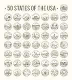 50 tillstånd av USA Arkivbilder