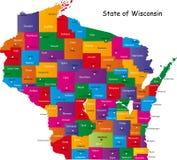 Tillstånd av Wisconsin Royaltyfri Fotografi