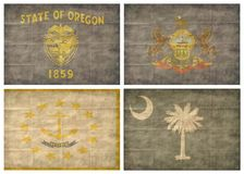 tillstånd för 10 13 flaggor oss Arkivbilder