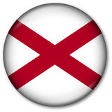 tillstånd för alabama knappflagga Arkivbild